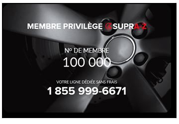 Carte de membre privilège SUPRA-Z